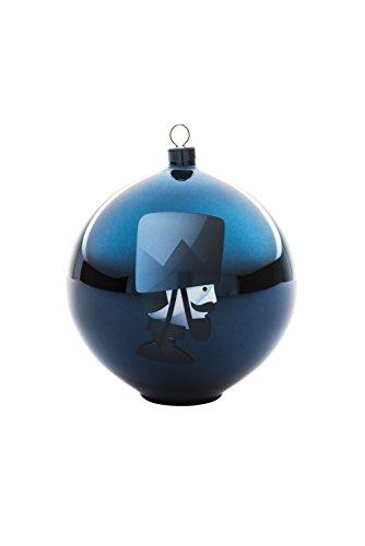 Alessi AAA07 5 Blue Christmas Weihnachtsschmuck - mundgeblasenes Glas, blau.