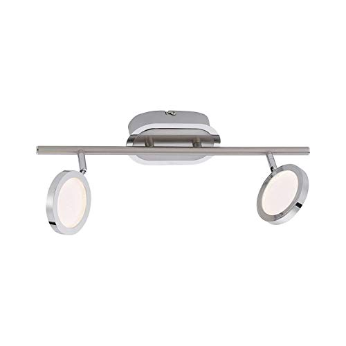 LED plafondspots 2 spots gang plafond lamp woonkamer hallamp (plafondlamp, keukenlamp, 40 cm, 2 x 4,6 Watt, warm wit)