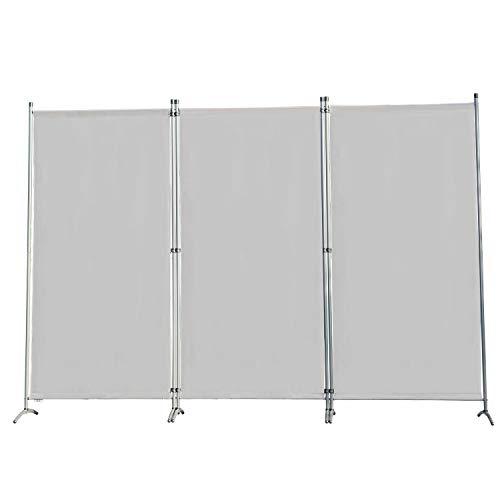 Angel Living Biombo Grande de 3 Paneles, Decoración Elegante, Separador de Ambientes Plegable, Divisor de Habitaciones, 250X170 cm (Gris)