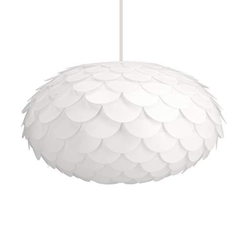 kwmobile DIY Puzzle Lampe Blumen Design - Lampenschirm Deckenlampe Pendelleuchte Hängelampe Stehleuchte - Puzzlelampe Schirm Deckenleuchte in Weiß