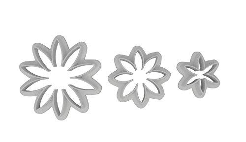 DeColorDulce Marguerite Set emporte-pièces, Blanc, 28 x 10 x 5 cm, Lot de 3