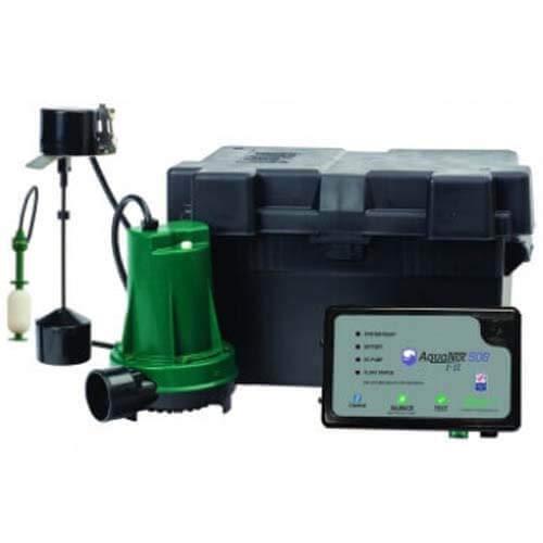 Zoeller Model 508 Aquanot Active 12V/DC Backup Sump Pump System w/Z Control Technology
