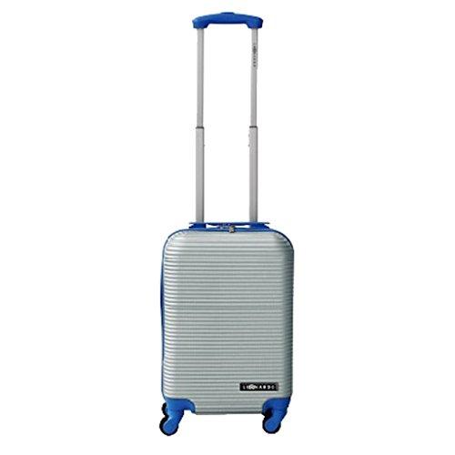 Leonardo Handbagage koffer duo-tone zilver / blauw (DSS-DS40935)
