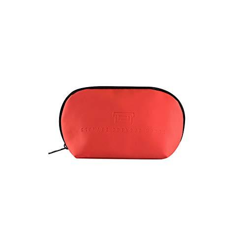 Demarkt 1pcs Étanche Trousse de Maquillage Toiletry Bag Sac à Main Multicolore Trousse de Toilette Femme Rouge 19 * 11 * 6cm