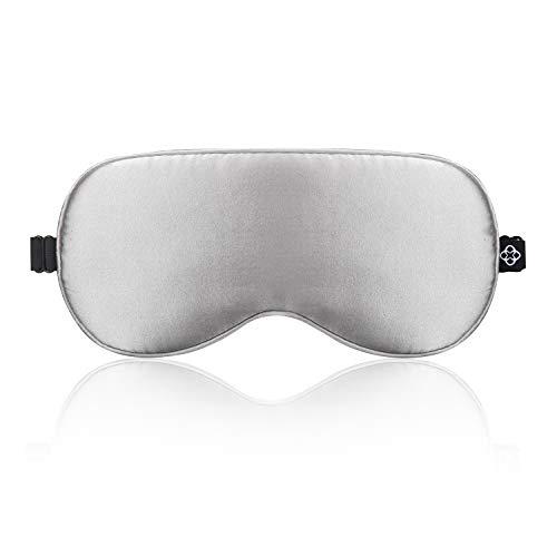 LONFROTE Seide Schlaf Schlafbrille Augenmask Schlafmaske mit Ohrstöpsel und Tragetasche, Leicht & Bequem und Verstellbar, Super Weiches Material für Herren und Frauen Reisen Funktioniert
