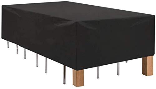 """FWJT Cubierta de Silla de Mesa de Patio, Mesa de Comedor Rectangular Impermeable y sillas Conjuntas, Cubiertas de Muebles de Exterior, 50\""""x50 x27, Negro Cuatro Estaciones (Size : 108\""""x82\""""x23\"""")"""