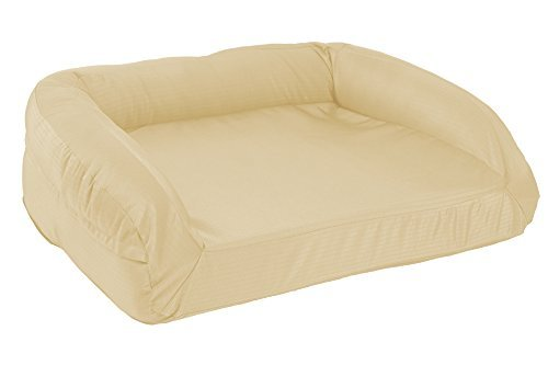 K9 Ballistics Tough Orthopedic Large Bolster Dog Bed - Washable, Durable and Waterproof Dog Bed - Made for Big Dogs, 34'x40', Tan
