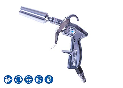 BenBow Pistole di soffiaggio ad Aria compressa con ugello Venturi - Robusta Custodia in Alluminio | soffia Perfettamente | Alta Pressione | Eccellente Flusso d'Aria | Pistola Venturi