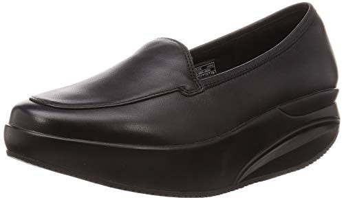 MBT Oxford W, Mocasines Loafer Mujer, Negro Black