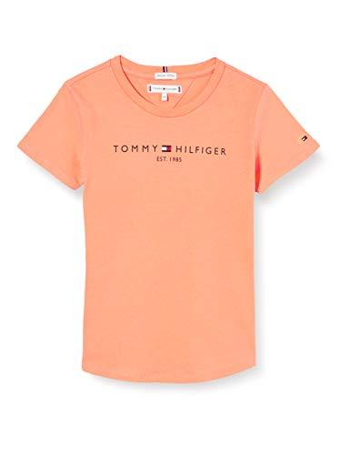 Tommy Hilfiger Essential tee S/s Camiseta, Naranja (Melon Orange Sc1), 16 años (Talla del Fabricante: 16) para Niñas