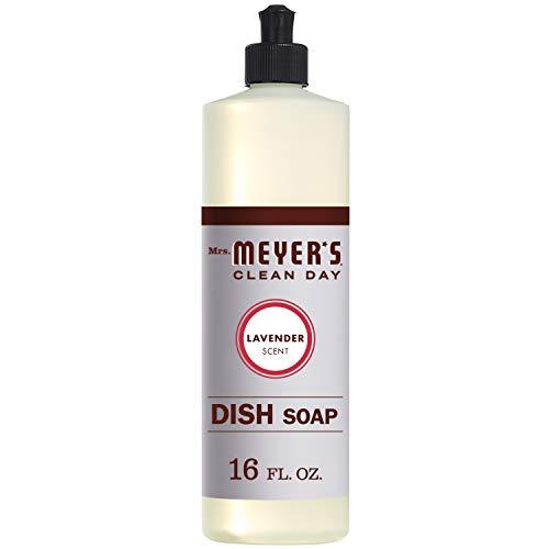 Mrs. Meyer's Clean Day Liquid Dish Soap, Cruelty Free Formula, Lavender Scent, 16 oz