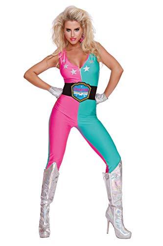 Dreamgirl Women's Wrestling Champ, Costume, Small