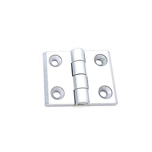 Perfil de plata 10pcs de aluminio Industria armario metálico Blanco Negro de aleación de zinc de la bisagra de plata (10 piezas)