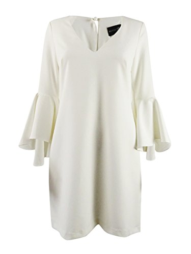 Betsy & Adam Womens Bell Sleeves Knee-Length Cocktail Dress Ivory 6