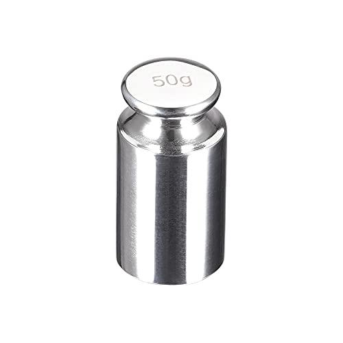 uxcell グラム校正分銅 50g M2 精密クロムメッキ鋼 デジタルバランススケール用 30x18mm