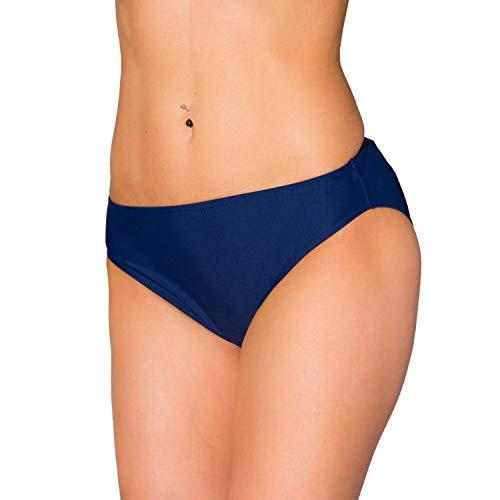 Aquarti Damen Bikini Hose mit mittelhohem Bund, Farbe: Dunkelblau, Größe: 36