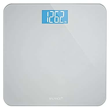 Greater Goods Digital Body Weight Bathroom Scale by Balance, Large Glass Top, Backlit Display, Precision Measurements (Digital Scale New)