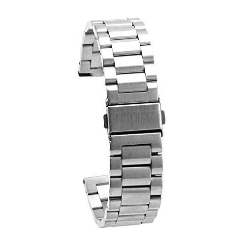 SALUTUYA Accesorio de Repuesto Encantador 1 Juego Correa de Reloj de Pulsera Material de Metal Correa de Reloj para relojeros con Color metálico Brillante(Silver)