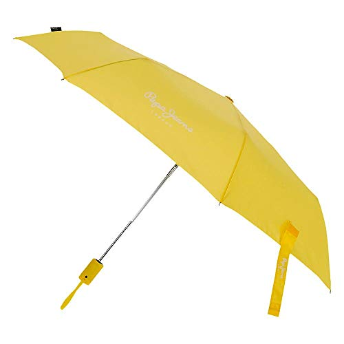 Paraguas Pepe Jeans Luma Doble Automático Amarillo