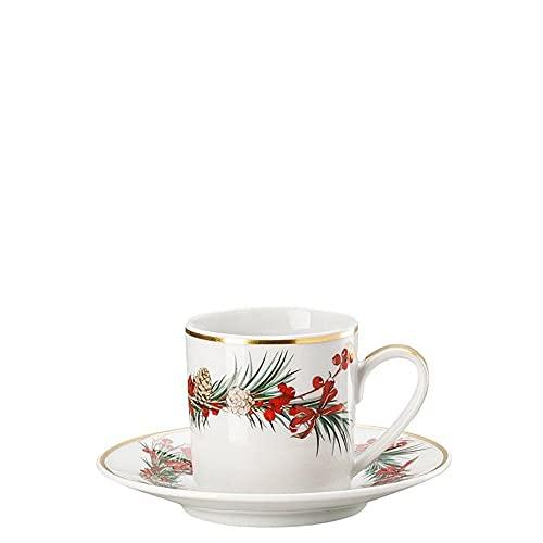Rosenthal Set 6 Aida Yule Taza Espresso y platillo