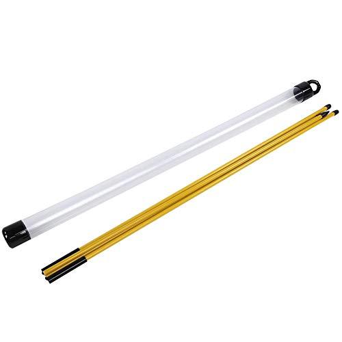 VGEBY1 Golf Übungshilfe, Golf Alignment Stick Faltbare Glasfaser Übungsstangen Trainingshilfe Golf Indicator