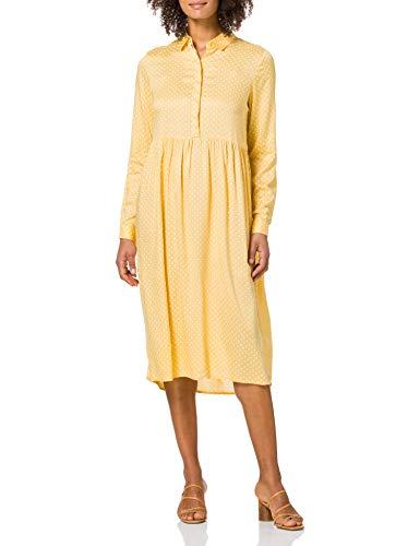 Vero Moda VMFIE LS Calf Dress WVN GA Robe, Cornsilk/détail :