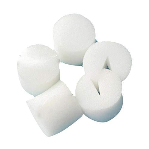 MOVKZACV Hydrokultur-Schwämme, für Hydrokultur, Gemüse, Anzuchtsystem, 30 mm, Weiß, Hydrokultur-Schwamm für Pflanzen, bodenlos, 100 Stück