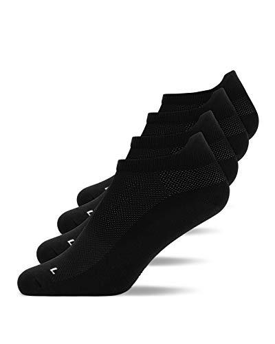 Snocks Laufsocken Herren Schwarz Größe 47-50 4X Paar Laufsocken Herren 47-50 Sportsocken Herren 47-50 Running Socks Sport Socken Sportsocken Kurz