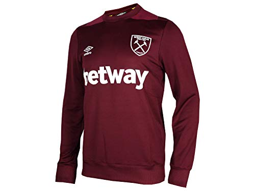 UMBRO West Ham United Sweatshirt WUFC Pullover Hammers Fanartikel Premier League, Größe:S
