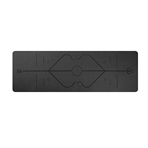 Generic Brands - Colchoneta de yoga, color negro