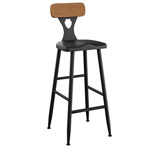 Barstoel barkruk barkruk barkruk retro smeedijzeren barkruk stoel Home keuken eetkamer stoel rugleuning stoel hoge kruk massief hout gebogen kruk zithoogte: 45-75 cm 65CM