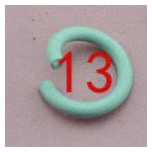 Shop-PEJ Jewelry Accessories 100pcs/lot 1.2x8mm Colorful Metal DIY Jewelry Findings Open Single Loops Jump Rings Split Ring For Jewelry Making for Jewelry and Crafts Making (Color : Lake blue 13)