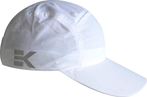 Ekeko Bayona Running Cap, Microfiber Cap, Adjustable with Buckle. Effect washed cotton. (White)