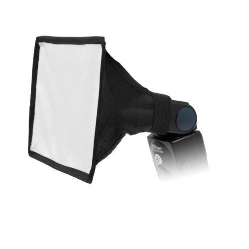 Mini-Universeller 6x8 Studio Softbox-Blitzdiffusor für Flash, Speedlight, Nikon SB-600, SB-700, SB-800, SB-900 SB-910, Canon Speedlite 380EX, 430EX, II, 550EX, 580EX, II, 600EX-RT, Vivita Flash, Sunpack, Nissin,Sigma, Sony, Pentax, Olympus, Panasonica Lumix Flashes