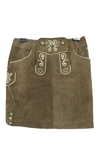 Michaelax-Fashion-Trade Trachten Damen Lederrock aus 100% Leder, (Artikel:Espe C), Größe:44, Farbe:Braunantik