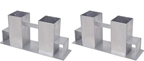 2er Set Brennholz-Stapelhilfe Kaminholz Feuerholz Stapel Hilfe