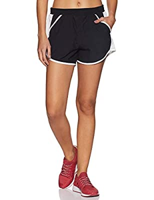 Under Armour Women's Fly By Running Shorts , Black (001)/Reflective , Large