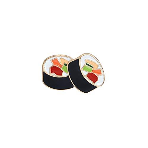Pasadores para mochilas, esmalte unisex sushi broche Pin Denim Jacket Coat Leather Jewelry Badge Decor - 1 #