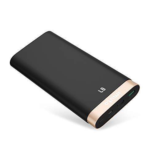iMuto [Quick Charge 3.0] Powerbank 20000mAh Hohe Kapazität Externer Akku Tragbar Handy Ladegerät mit USB Qualcomm QC 3.0/2.0 für iPhone, iPad, Nintendo Switch, Samsung Galaxy und Weitere (Schwarz)
