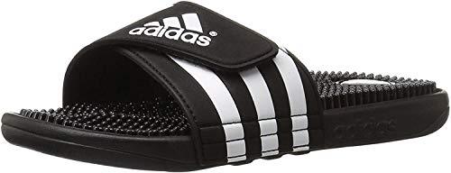 adidas Originals Men's Adissage Slides,Black/Black/White,10 M US