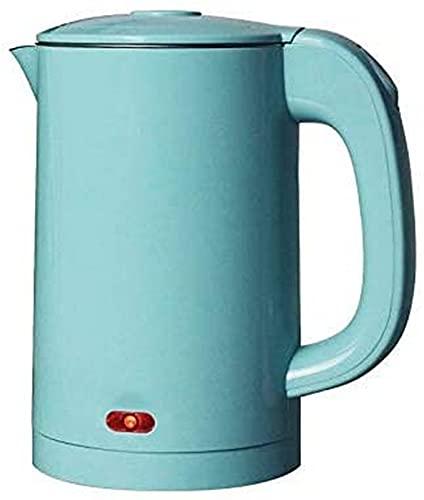 NBLD Hervidor eléctrico, hervidor de Agua Caliente de Acero Inoxidable de Doble Pared, hervidor de té con cafetera de ebullición rápida, Apagado automático