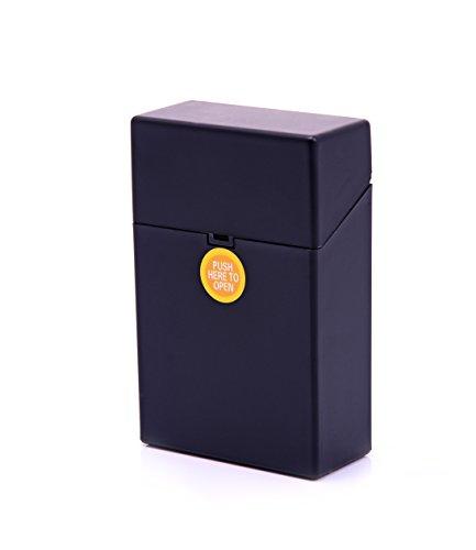 LK Trend & Style Zigarettenbox Kunststoff Zigarettenetui Berlin Box für Zigaretten Gr. L (schwarz)