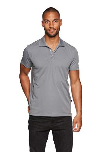 Jeff Green Herren Atmungsaktives Funktions Poloshirt Eclipse, Größe - Herren:XXL, Farbe:Grey