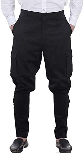 Mens Medieval Renaissance Pants Steampunk Victorian Viking Costume Cosplay Navigator Gothic product image