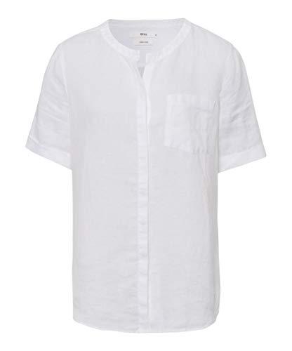 BRAX Vania Linen Camicia, Bianco (White 99), 40 (Taglia Unica: 34) Donna