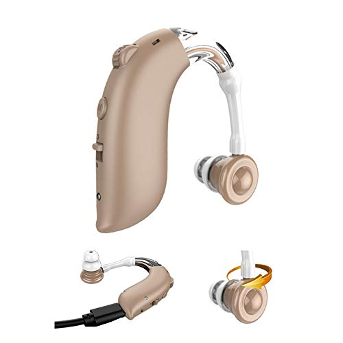 A Rechargeable Hearing aid Sound Amplifier Suitable for Adults and The Elderly, with 4 Modes to Adjust The Sound Channel Noise Reduction 1Pack
