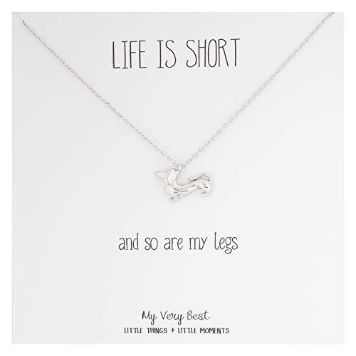 My Very Best Short Legged Dachshund Necklace (Silver Plated Brass)