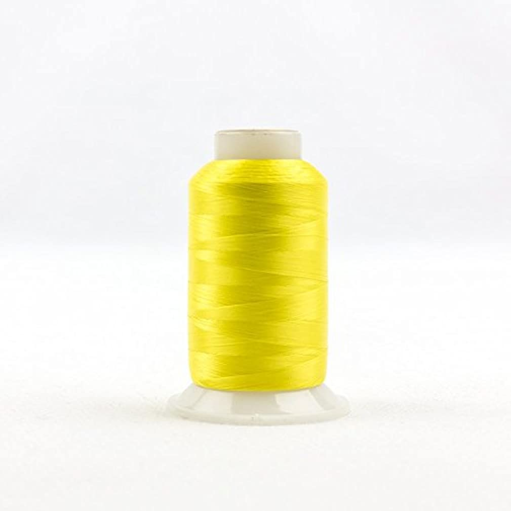 WonderFil, Specialty Threads, InvisaFil, 2-Ply Cottonized Soft Polyester, Silk-Like Thread for Fine Sewing, 100wt - Daffodil Yellow, 2500m