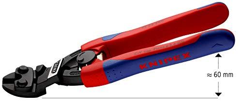 Knipex 71 22 200 CoBolt cortabulones compacto con cabeza angulada en 20º, con muelle de apertura y mango con funda multicomponente, 200 mm