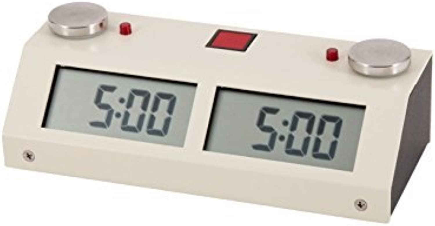 Chronos GX Digital Game Chess Clock - TOUCH - Weiß by The House of Staunton, Inc.